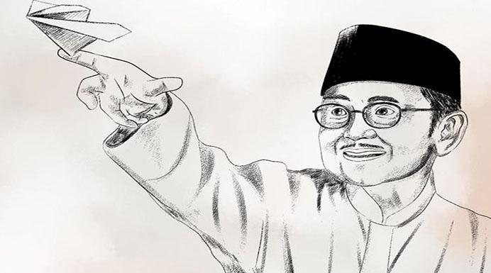 J Habibie. (Foto: Akun twitter Joko Widodo).