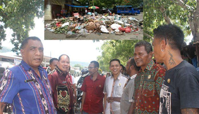 DPRD Alor Tinjau Sampak di Pasar Kadelang, Kamis (9/1/2020).