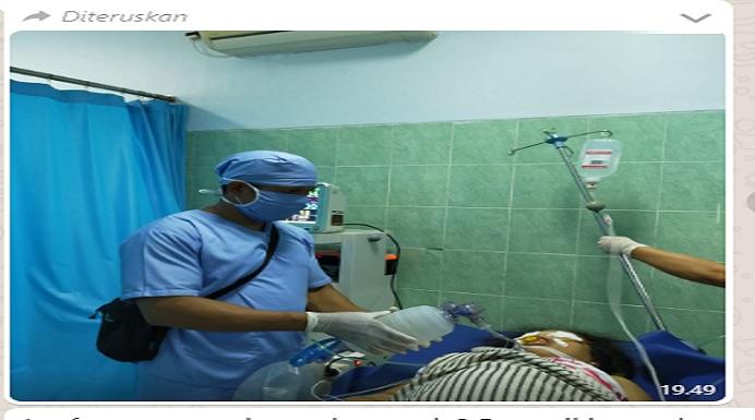 Foto Hoax Istri El Asamau, Wany Here Wila sementara kritis di suatu RSU di Kota Kupang.
