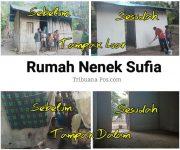 Rumah Oma Sufia Tang yang sudah direnovasi oleh tim bedah rumah, Selasa (23/6) di Desa Alila Timur Kecamatan Kabola.