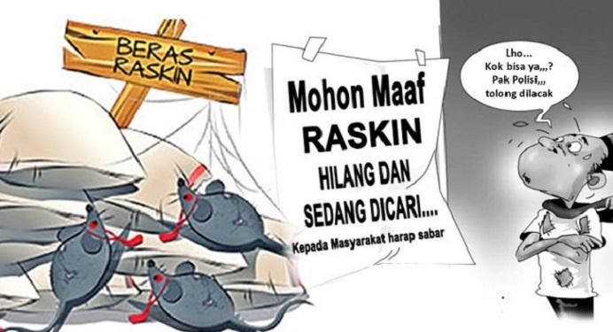 Gbr: Ilustri korupsi Beras Raskin (sumber: thejambitimes.com). Gambar tak ada kaitan dengan isi berita.).