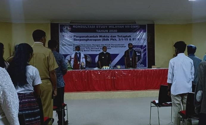 Acara Pembukaan KSW VII GMKI, Senin (14/9) di Aula Kantor Bupati Alor, Batunirwala, Kalabahi.