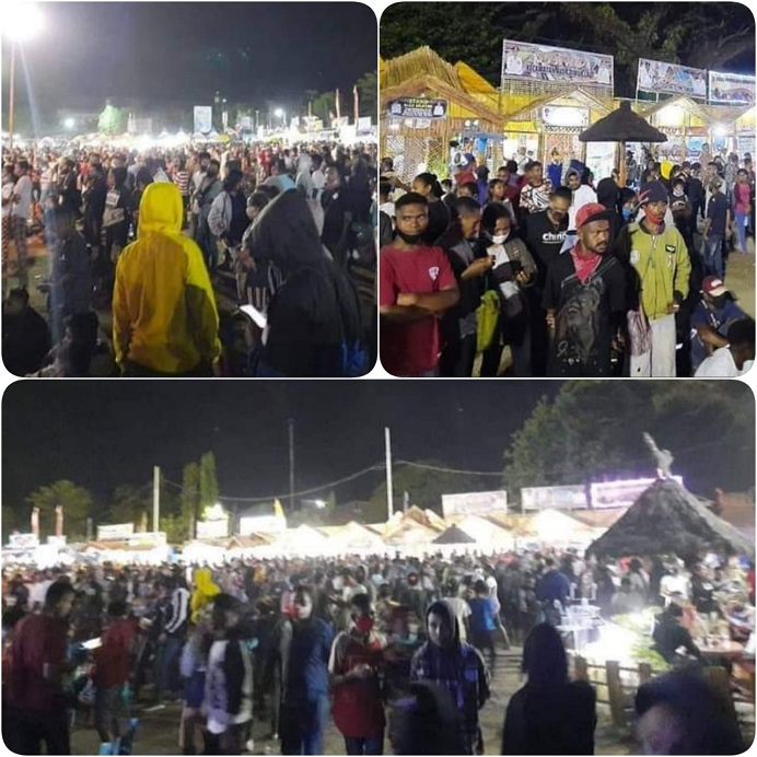 Kerumunan massa di arena Expo Alor. (Foto: FB Abdurrahman).