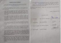 Salinan pernyataan sikap Jemaat Pniel Kolana dalam aksi demonstrasi menolak SK MS GMIT yang disampaikan kepada KMK Alor Timur Pdt. Moses Mooli, S.Th di rumahnya di Maritaing, tanggal 28 September 2020.