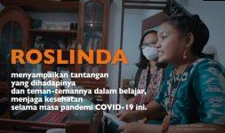 Roslinda (15), pelajar dari Kabupaten Sumba Timur, NTT sementara menyampaikan suara anak Indonesia secara online ke perwakilan negara anggota PBB di New York, Amerika Serikat, Rabu (8/10).