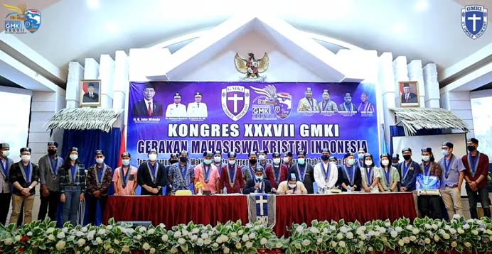 Pengurus Pusat GMKI Periode 2018-2020 resmi dinyatakan demisioner usai LPJ di Kongres, Manokwari Papua Barat, Sabtu (28/11).