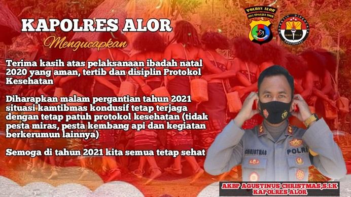 Kapolres Alor AKBP Agustinus Chrismas Try Suryanto, S.IK.