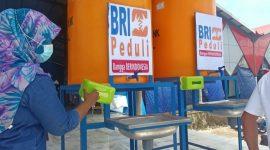 Fasilitas 3M bantuan BRI Kalabahi di Pasar Lipa Kalabahi dan Pasar Kadelang.