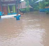 Bencana banjir yang meredam Desa Maritaing Kecamatan Alor Timur pada Senin (1/2/2021) petang.
