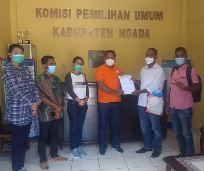 DPK PRIMA Ngada ketika silahturahmi di kantor KPUD Ngada, Jumat (19/3).