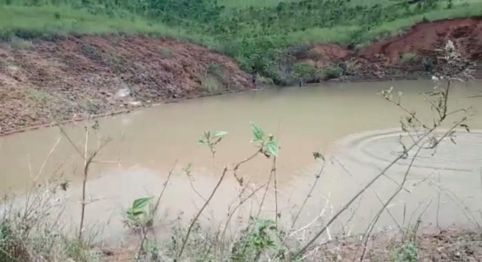 Embung di Desa Kaerah Kecamatan Pantar Timur yang menjadi lokasi korban tenggelam pada Jumat (5/3/2021) pagi.