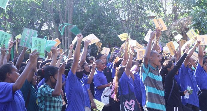 Sebanyak 579 Mahasiswa Baru Untrib Angkatan Tahun 2020 mengikuti OSPEK di kampus Untrib Kalabahi.