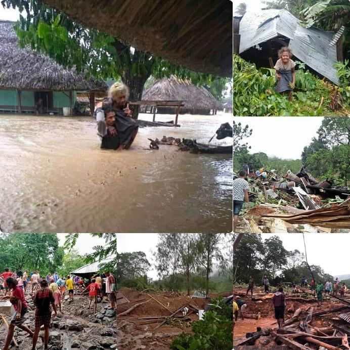 Potret bencana Siklon Tropis Seroja yang terjadi di Kabupaten Alor Provinsi NTT, pada Kamis 1 April hingga Selasa 6 April 2021. (Foto dihimpun dari berbagai sumber).