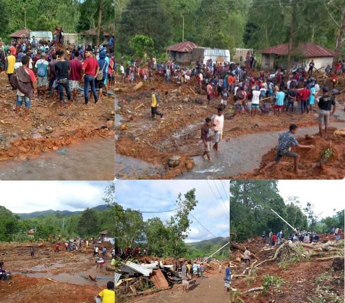 Warga Mainang Desa Welai Selatan Kecamatan Alor Tengah Utara bersama TNI-Polri sedang mencari 4 korban hilang akibat bencana. Hingga Selasa (6/4), dua korban berhasil ditemukan, dua lainnya masih dinyatakan hilang.