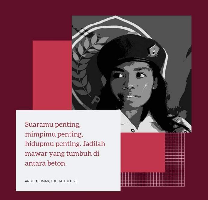 Ketua Presidium PMKRI Cabang Alor Mariam Lanmay. (Foto: FB Mirna Lanmay).