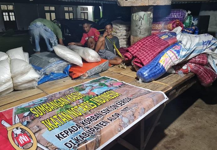 Bantuan PP-INI dan PW INI NTT yang disalurkan di Kecamatan Alor Timur Laut dan Lembur.