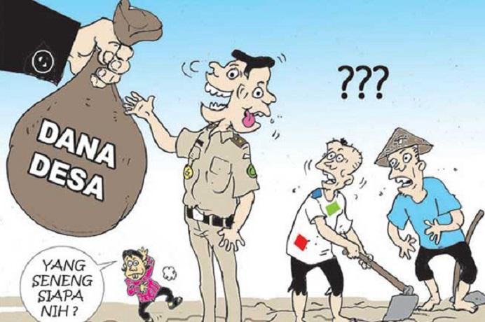 Gambar: Ilustrasi Korupsi Dana Desa. (Foto: lapd-id.com).