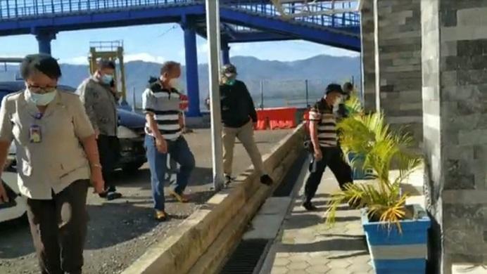 Tim KPK RI Sidak ke lokasi pembangunan proyek gedung baru Pelabuhan Fery Kalabahi, Jumat (25/6/2021) pagi.