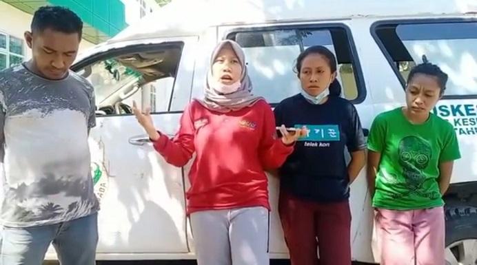 Empat korban Nakes Puskesmas Maliang merilis video keterangan kronologi kejadian penyerangan oleh orang tidak dikenal, Sabtu (31/7/21).