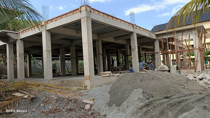Pembangunan Laboratorium Terpadu Untrib yang kini progresnya capai 42,64%.